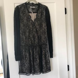 Alice + Olivia black lace dress